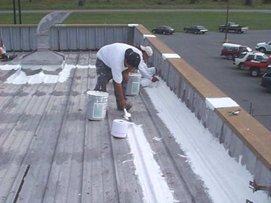 Roof Coating Pressure Washing